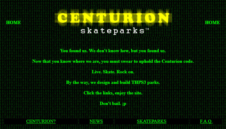 Centurion Skateparks Website