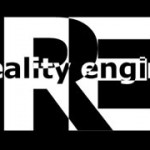 Logo design for Reality Engine, used for CD, print and online assets
