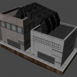 Low-Polygon Factory Model